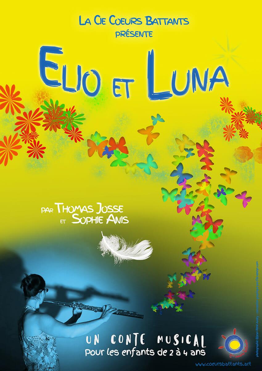 Affiche Elio et Luna un spectacle conte et musique